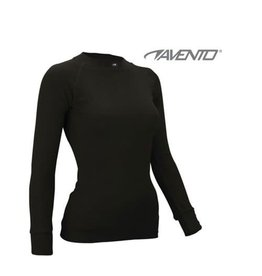 AVENTO THERMO SHIRT  ZWART JUNIOR UNISEX
