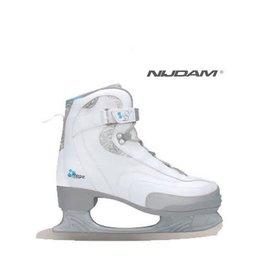 NIJDAM 035 KUNSTSCHAATSEN Softboot Wit/Zilver/Blauw