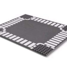 LEGO 44343 Wegplaat KRUISING, Antraciet, 32x32, gebruikt