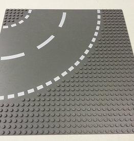 LEGO LEGO 44342 Wegplaat BOCHT, Antraciet, 32x32, gebruikt