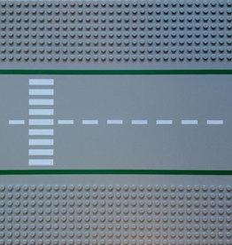 LEGO 30279 Wegplaat RECHT m.Zebra, Lightgrijs,32x32, gebruikt