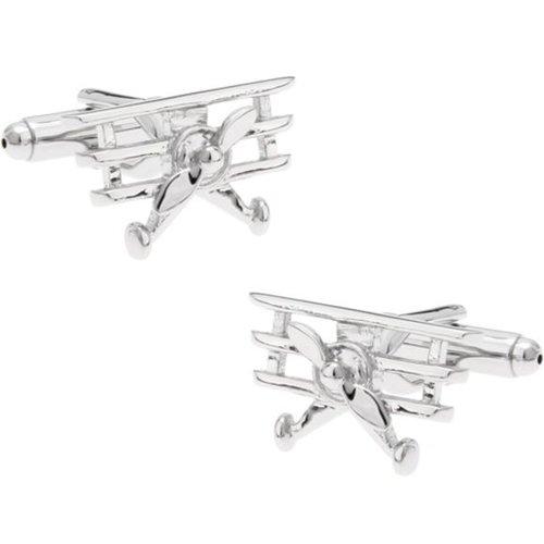 Manchetknopen Zilver Propeller Plane
