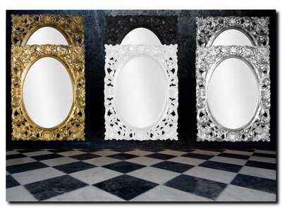 Spiegel Rond Groot : Groot assortiment spiegels rond of ovaal barokspiegel