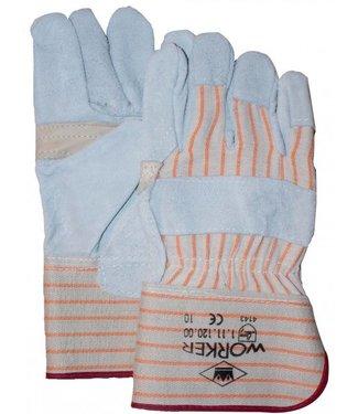 Splitlederen Werkhandschoenen A-kwaliteit met nerfpalmpversterking