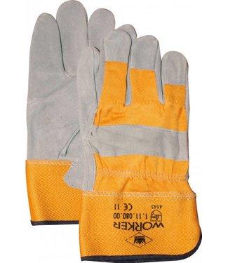 Splitlederen Werkhandschoenen zware A-kwaliteit