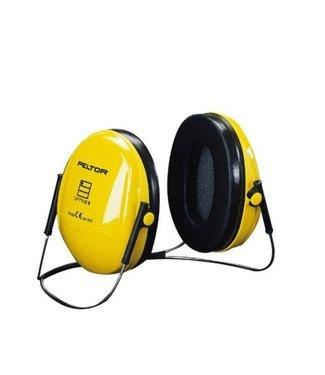3M - Peltor Gehoorkap Optime 1, geel nekbeugel
