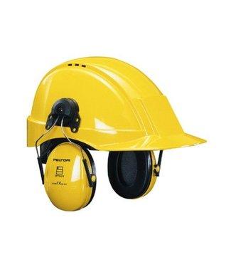 3M - Peltor Gehoorkap Optime 1, geel helmbevestiging