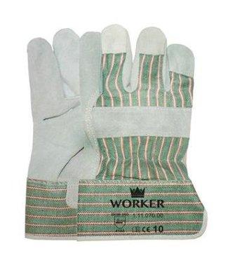 Splitlederen werkhandschoenen A-kwaliteit