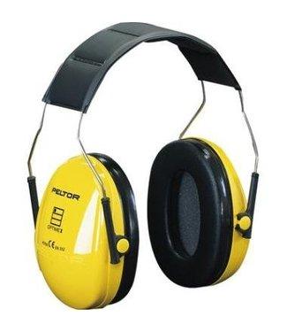 3M - Peltor Gehoorkap Optime 1, geel hoofdbeugel