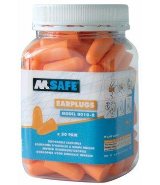 M-Safe M-Safe oordopjes 8010-R, ? 50 paar in pot