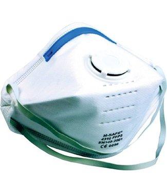 M-Safe M-Safe 4310 Stofmasker FFP3 met uitademventiel