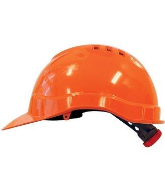 M-Safe M-Safe MH6010 Veiligheidshelm met draaiknop oranje