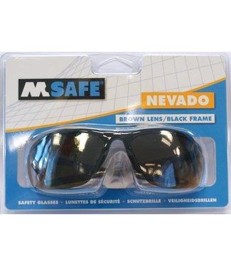 M-Safe M-Safe veiligheidsbril Nevado bruin lenzen, zwart montuur in blister