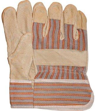 Varkensnerflederen werkhandschoenen gestreept doek