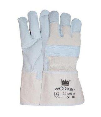 M-Safe Nerflederen worker werkhandschoenen met 10cm Canvas kap, M-Safe