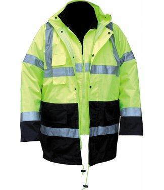 M-Wear M-Wear 0980 Parka Geel/Marine EN471