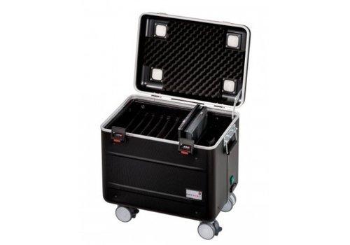 """Parat charge C10 Koffertrolley fuer 10 Chromebooks von maximaal 15"""" mit Kompartimentierung schwarz"""