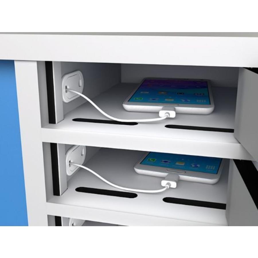 Ladespinde mit 10 separat abschliessbare Fächer für Handys