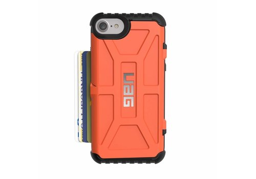 UAG Handyhuelle Trooper card fuer iPhone 8/7/6S orange