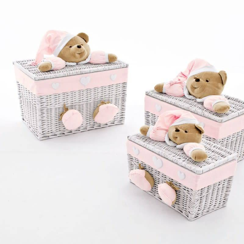 Nanan Nanan Medium Pink Toy Box