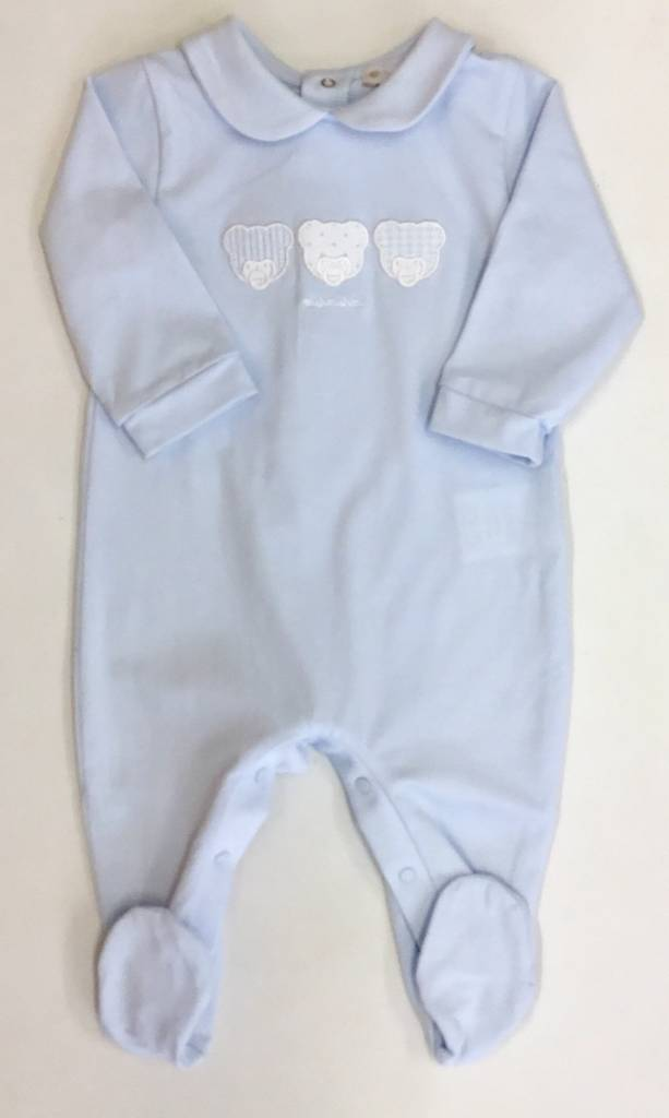 Nanan Nanan Bear Blue Babygrow