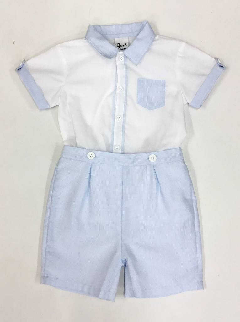Sarah Louise Sarah Louise 2 Piece Traditional Boys Shorts Set