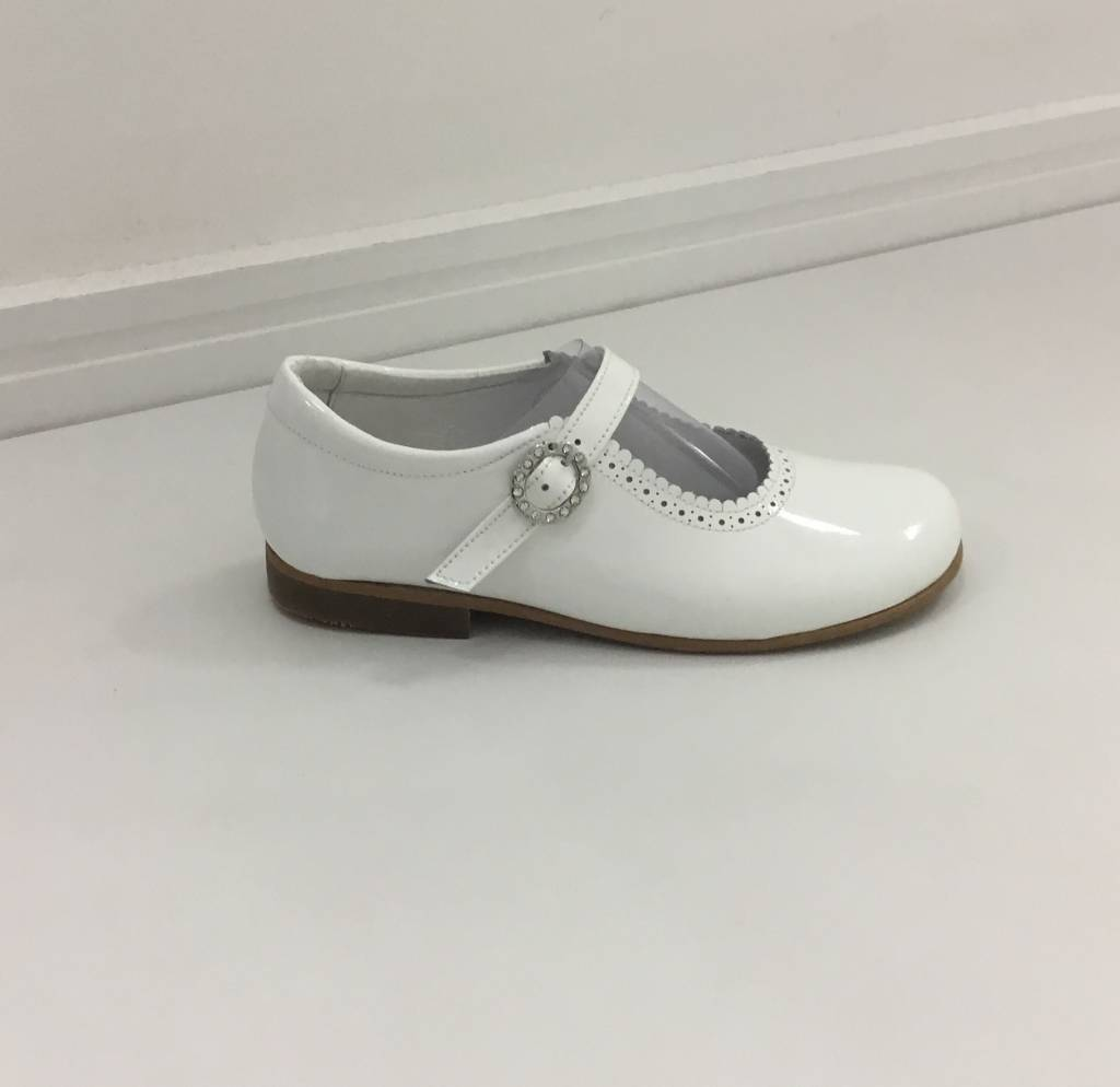 Andanines Andanine White Patent Mary Jane Shoe