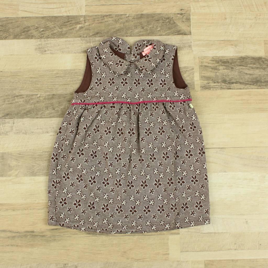 Kiekeboe Kinderkleding.Closet Cleaning Bruin Geprint Jurkje Kiekeboe Closet Cleaning