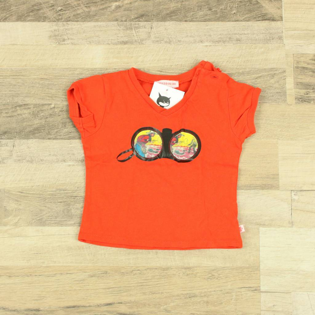 Kiekeboe Kinderkleding.Kiekeboe Rood T Shirtje Met Opdruk Kiekeboe Maat 80 Closet