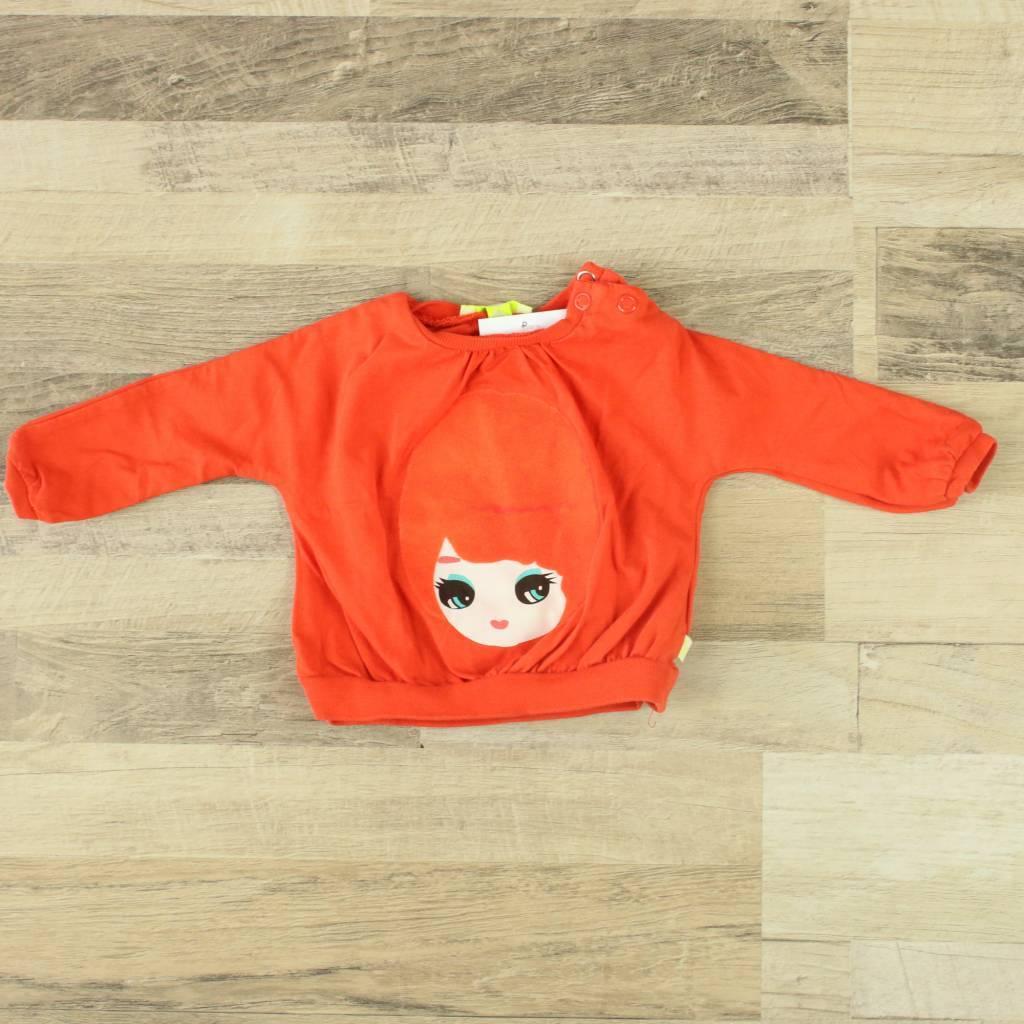 Kiekeboe Kinderkleding.Closet Cleaning Sweater Met Flock Print Kiekeboe Closet Cleaning