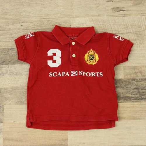 ROOD POLOSHIRTJE | SCAPA SPORTS | MAAT 12M