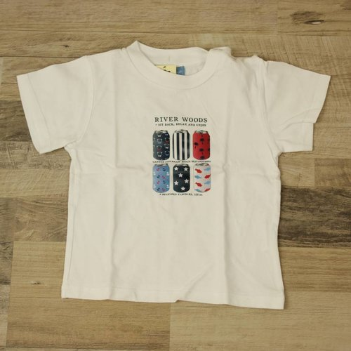 WIT T-SHIRTJE  | RIVER WOODS | MAAT 24M