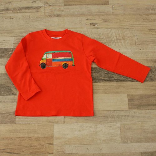 ROOD T-SHIRT | FILOU&FRIENDS | MAAT 6J
