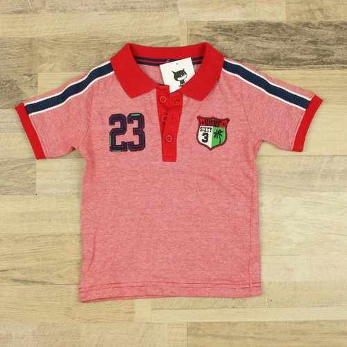 ROOD POLOSHIRT | LITTLE REBEL | MAAT 12/18M