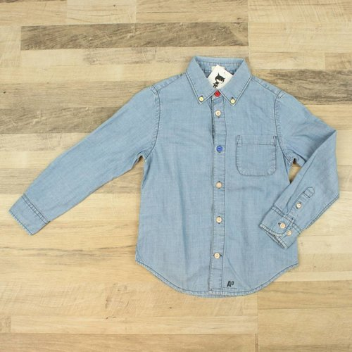 BLAUW JEANSHEMD | AMERICAN OUTFITTERS | MAAT 6J