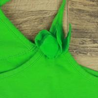 FLASHY GROENE TOP MET BLOEM | JBC | MAAT 158/164
