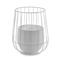 Serax pot in a cage wit (incl pot)