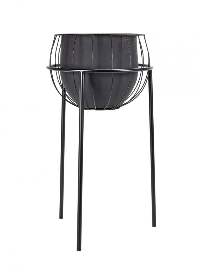 Plant Stand Cage Zwart Incl Pot
