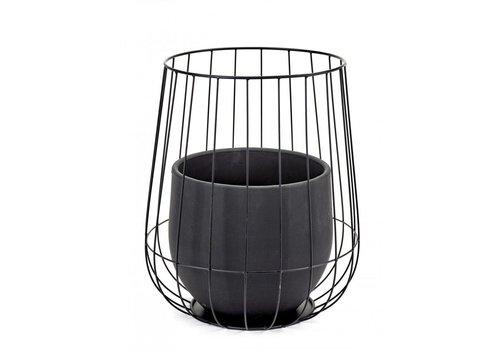 Serax Serax pot de fleur dans une cage noire (pot inclu)
