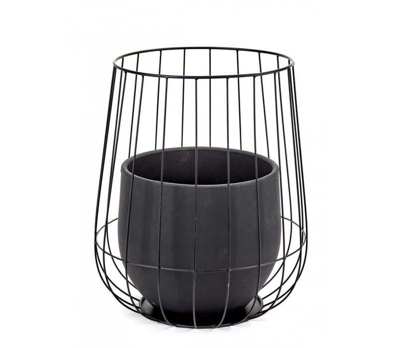 Serax pot in a cage black (incl pot)
