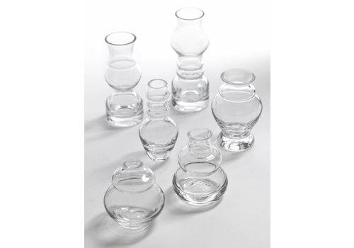 Serax Small clear vases Serax Mini rene barba  ASS/6 H 7 TO 12cm