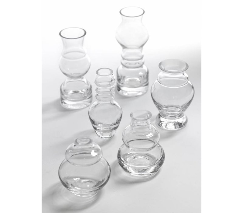 Small clear vases Serax Mini rene barba  ASS/6 H 7 TO 12cm