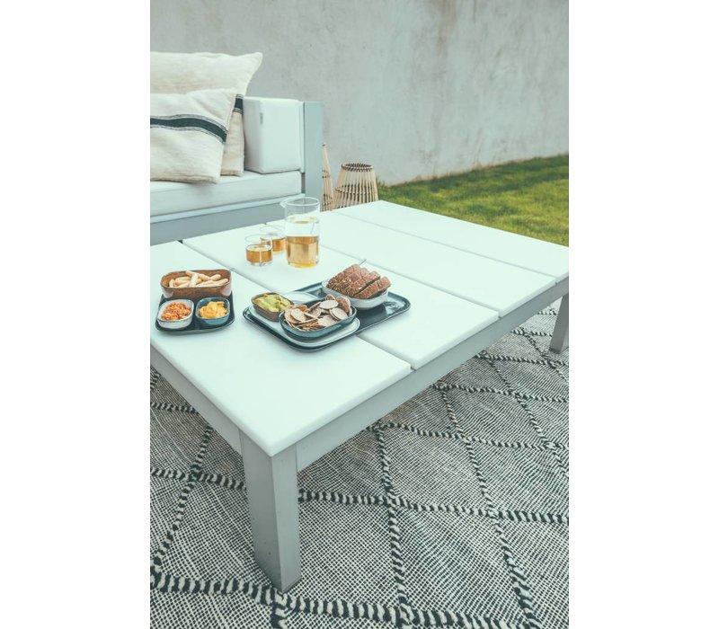 Merci rectangular plate N°2 - off-white