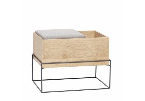 Hübsch Hübsch Bench with cushion/storage, oak, nat