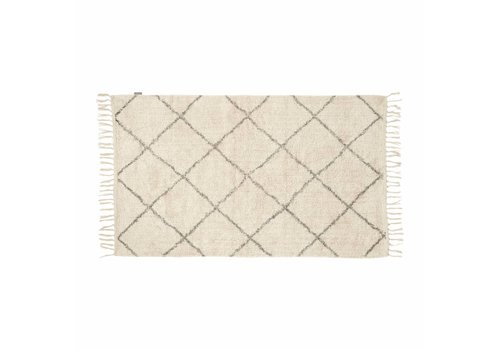 Hübsch Hübsch Rug, cotton - white/grey 740303