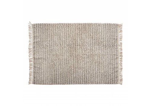 Hübsch Hübsch Rug, woven, cotton, white/grey