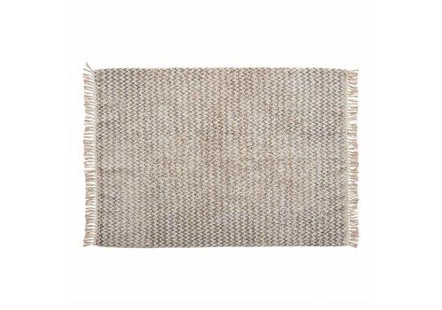 Hübsch Hübsch tapijt katoen wit/grijs