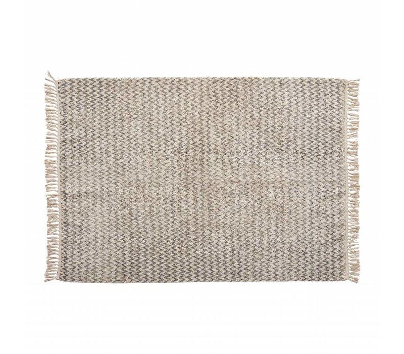 Hübsch tapijt katoen wit/grijs