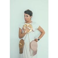 Marie Martens HAVANA Pink Nude Fringes disk bag
