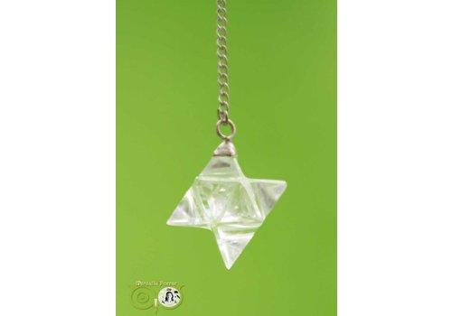 Pendel Merkaba Bergkristal (12 gram)
